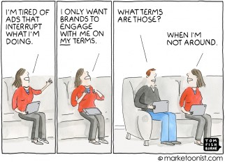 Engagement Marketing cartoon
