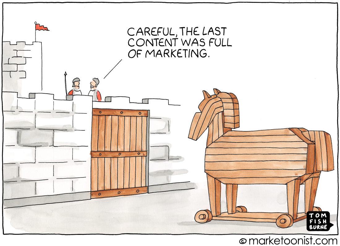 Trojan Horse Marketing cartoon