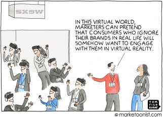 Brand Experience cartoon