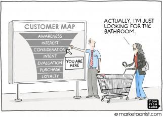 Customer Map cartoon