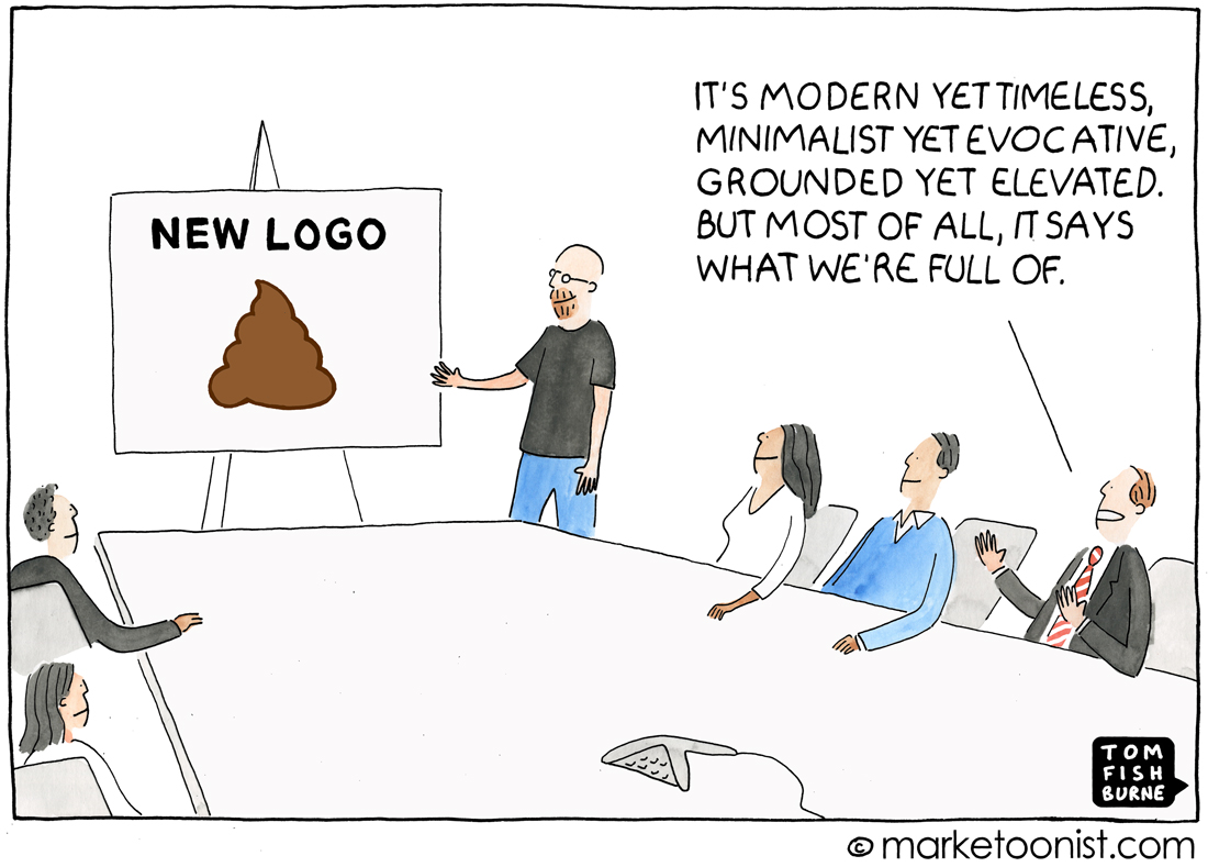 """New Logo"" cartoon"