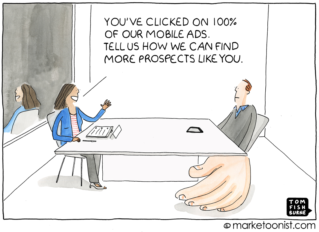 Mobile Ads cartoon