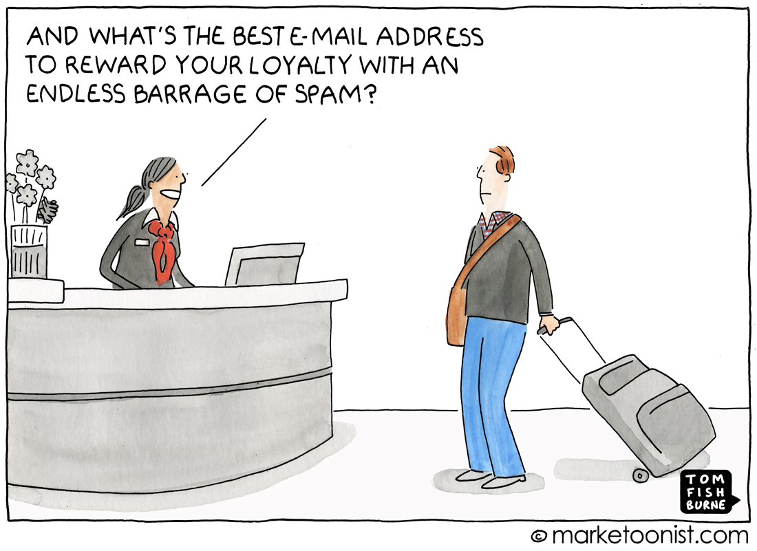Email Marketing cartoon