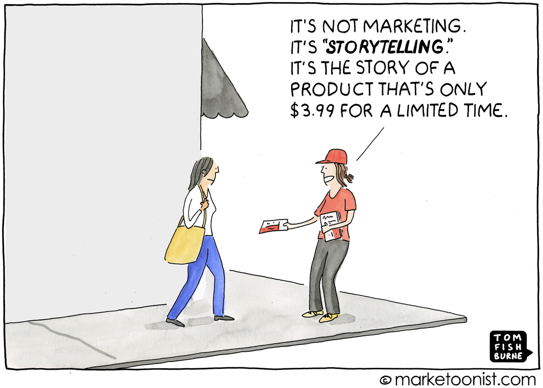 marketing storytelling cartoon