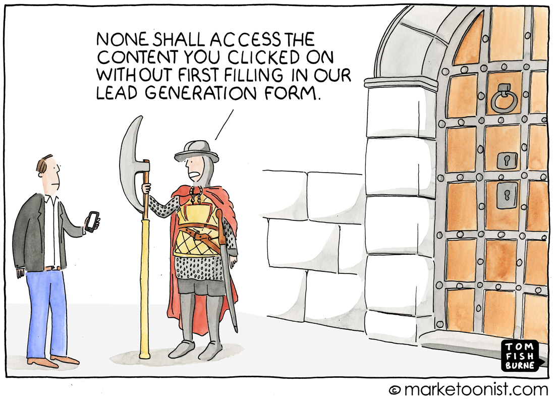 Lead Generation cartoon