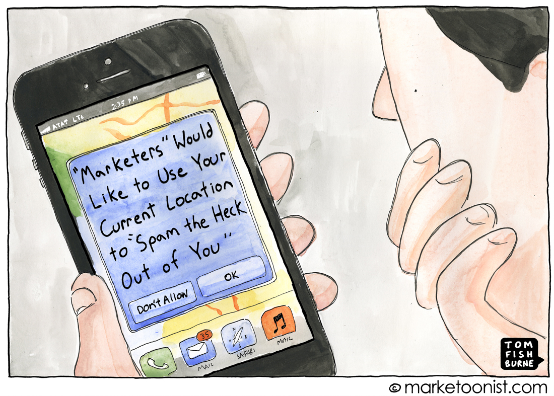 Location Marketing cartoon
