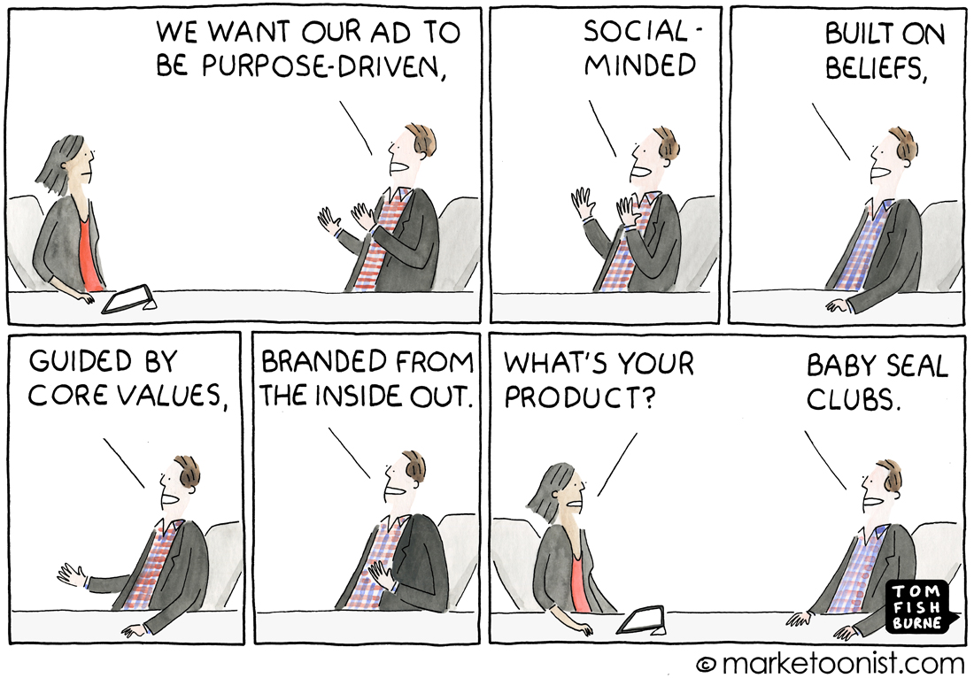 purpose-driven ads cartoon