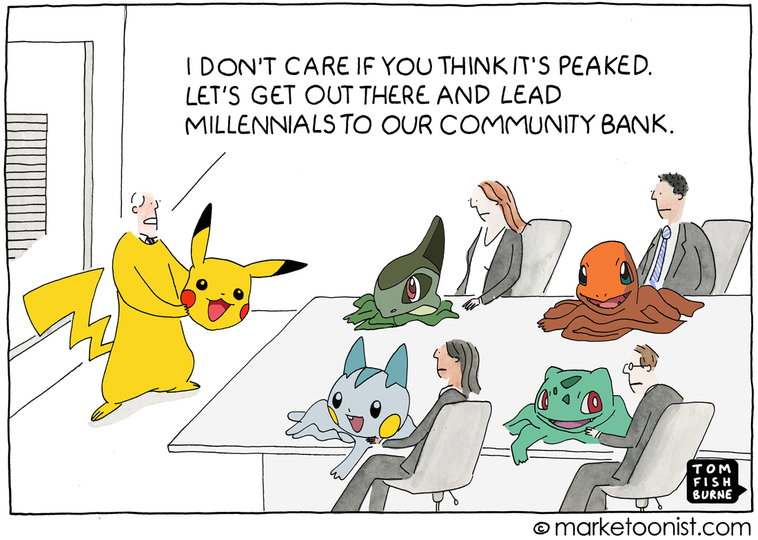 Pokemon Marketing Cartoon