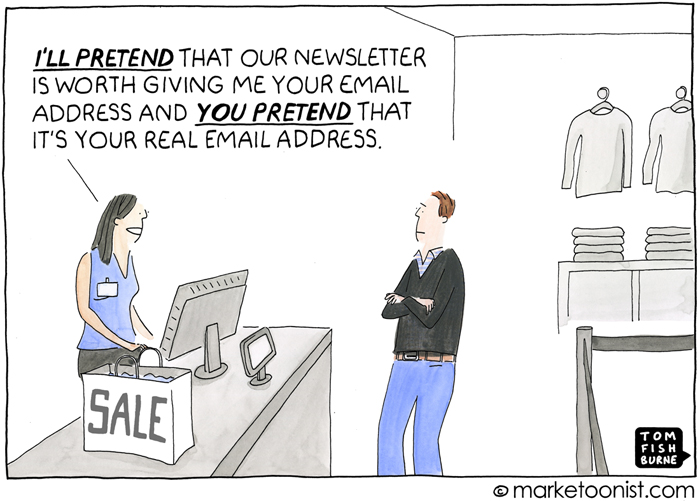Email Newsletters cartoon