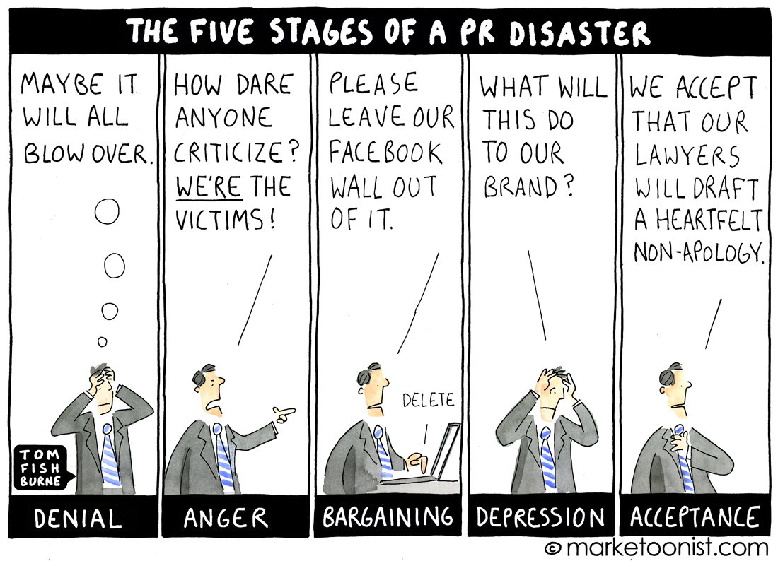 PR Disaster cartoon