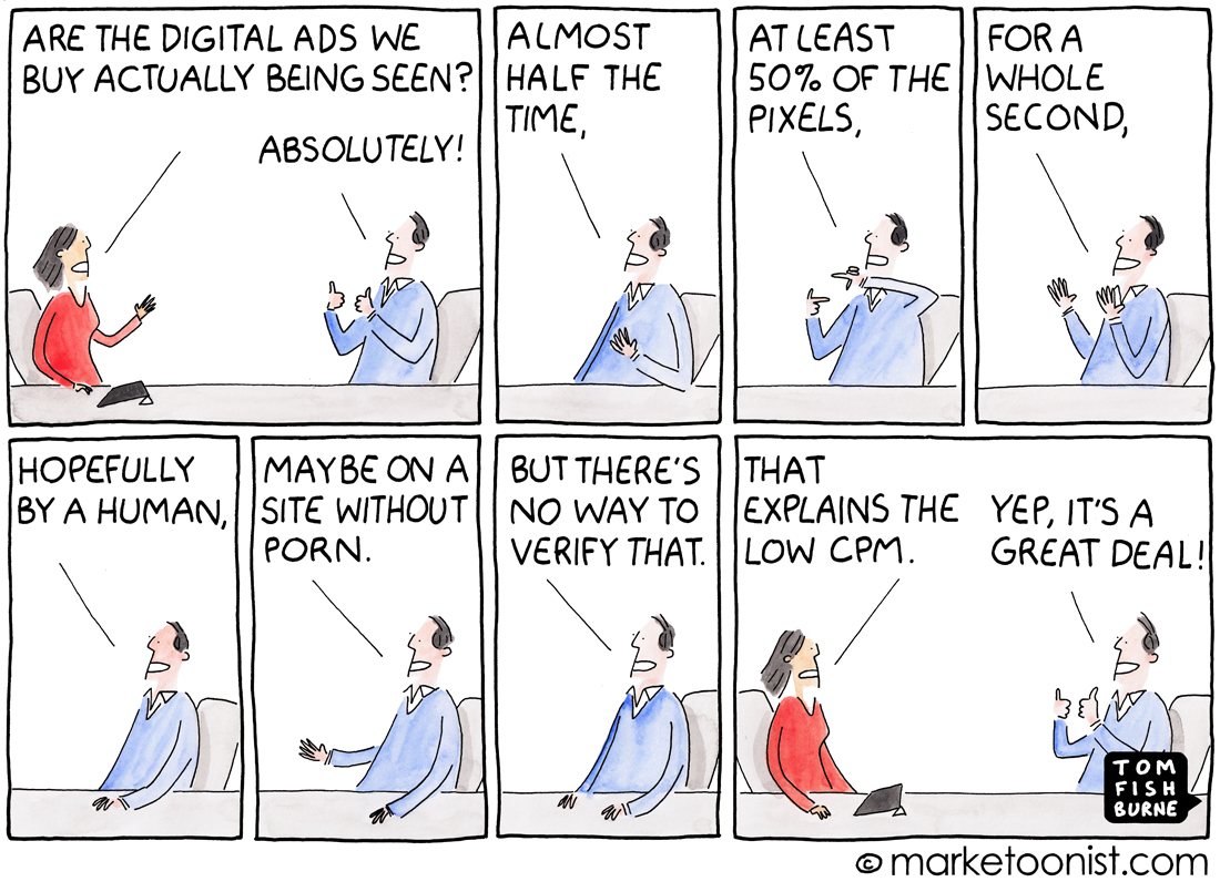 Ad Viewability cartoon