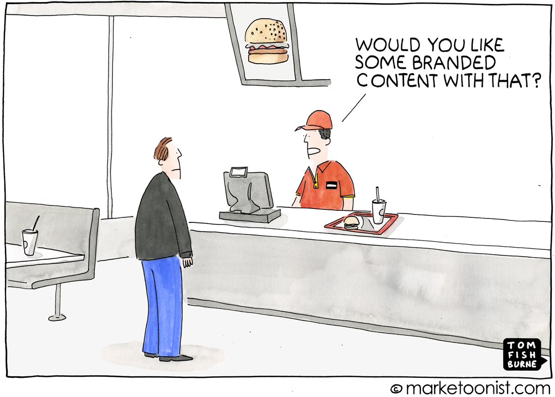 branded content cartoon