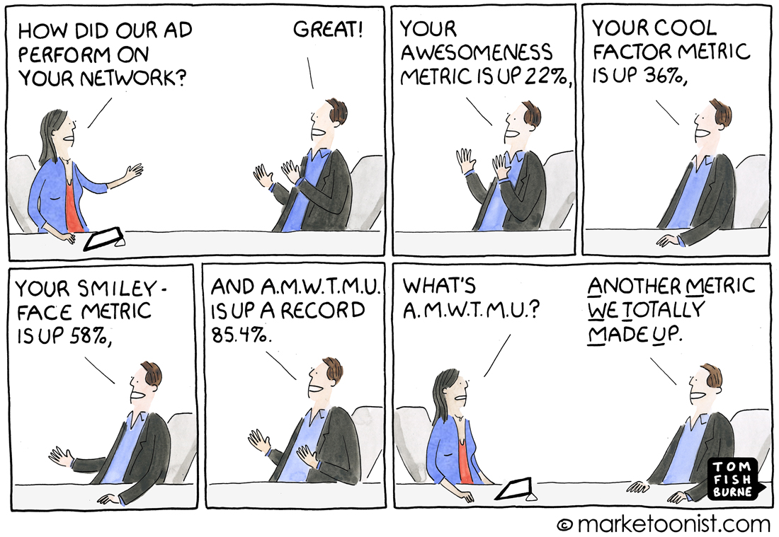 digital marketing metrics cartoon
