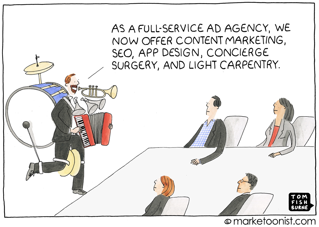 Full-service Agencies cartoon