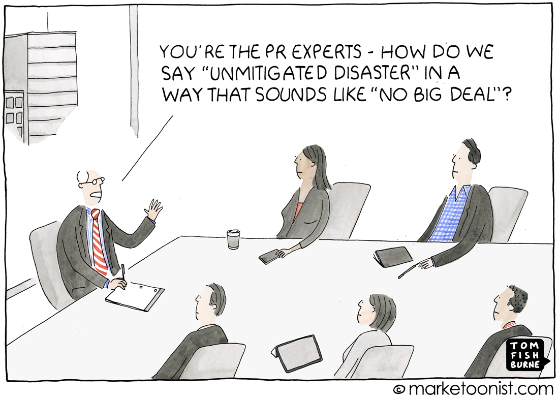 Pr Crisis cartoon