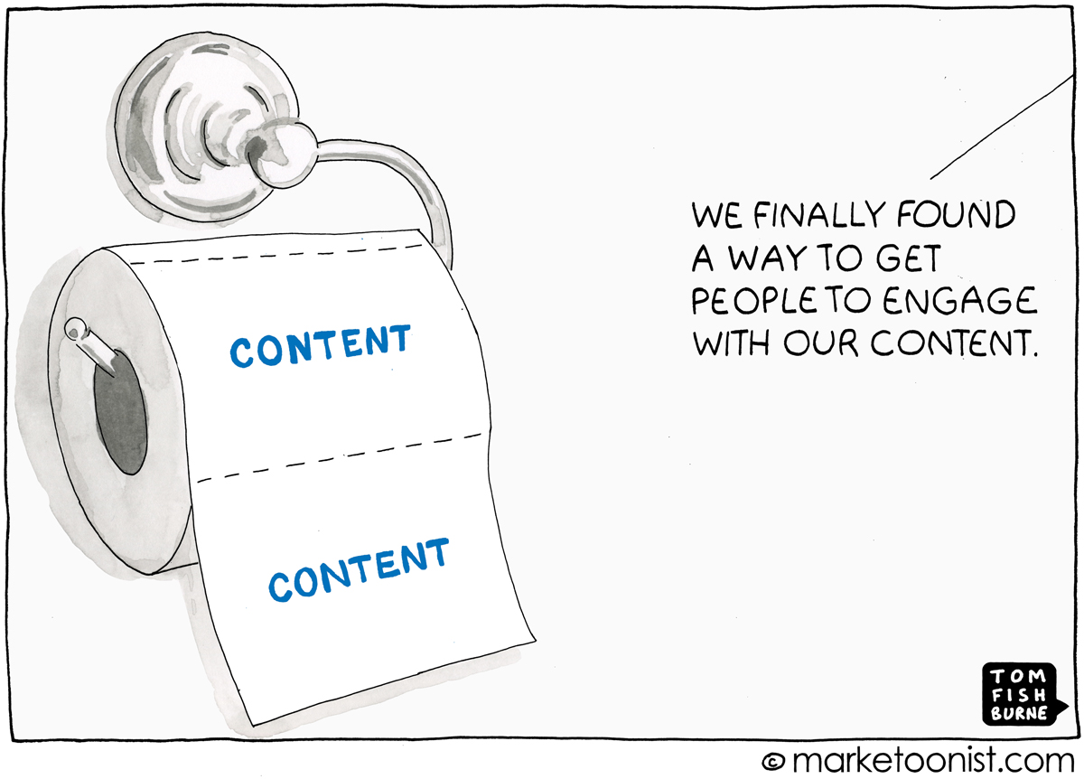 content engagement cartoon