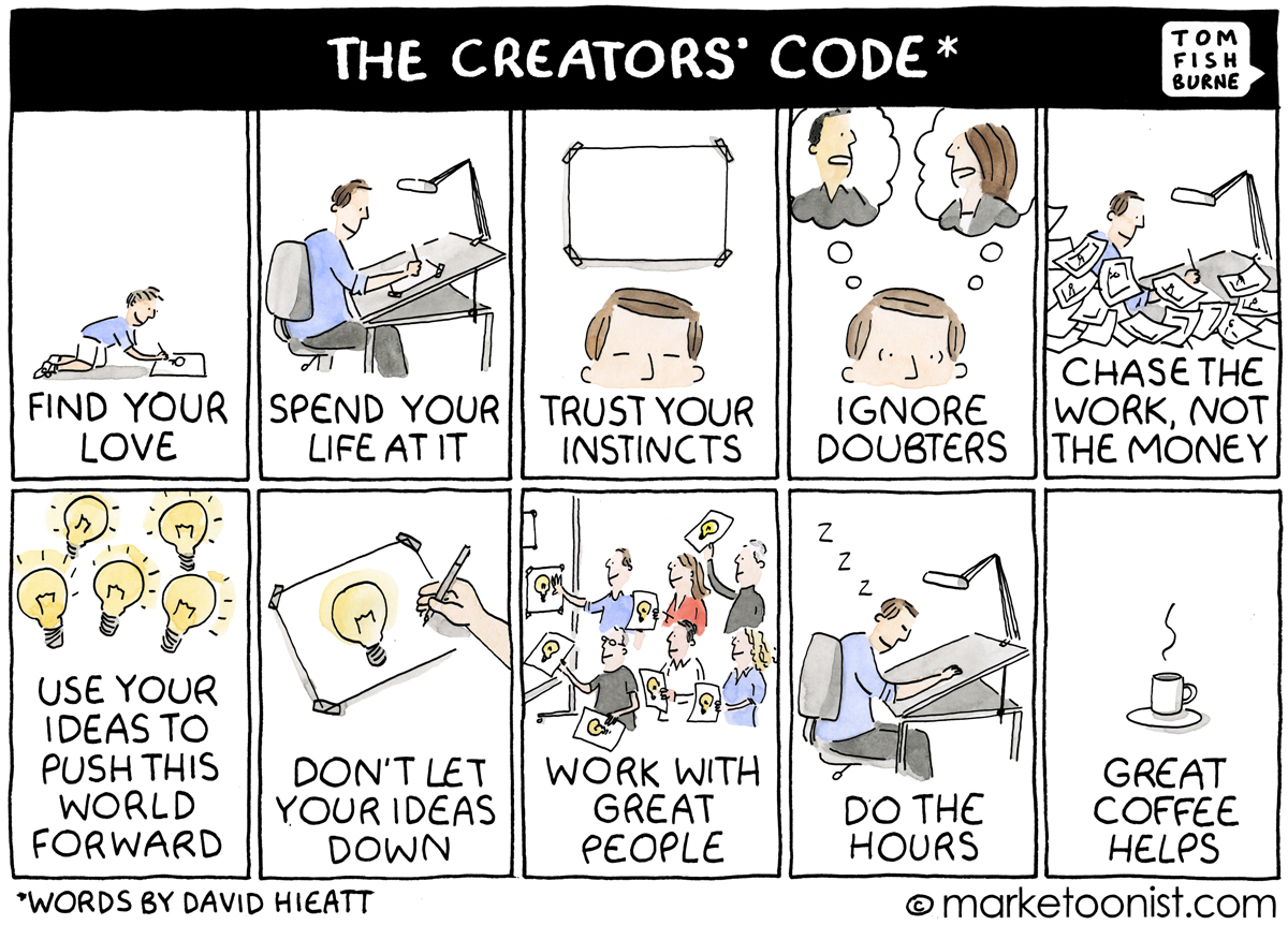 Creator's Code cartoon