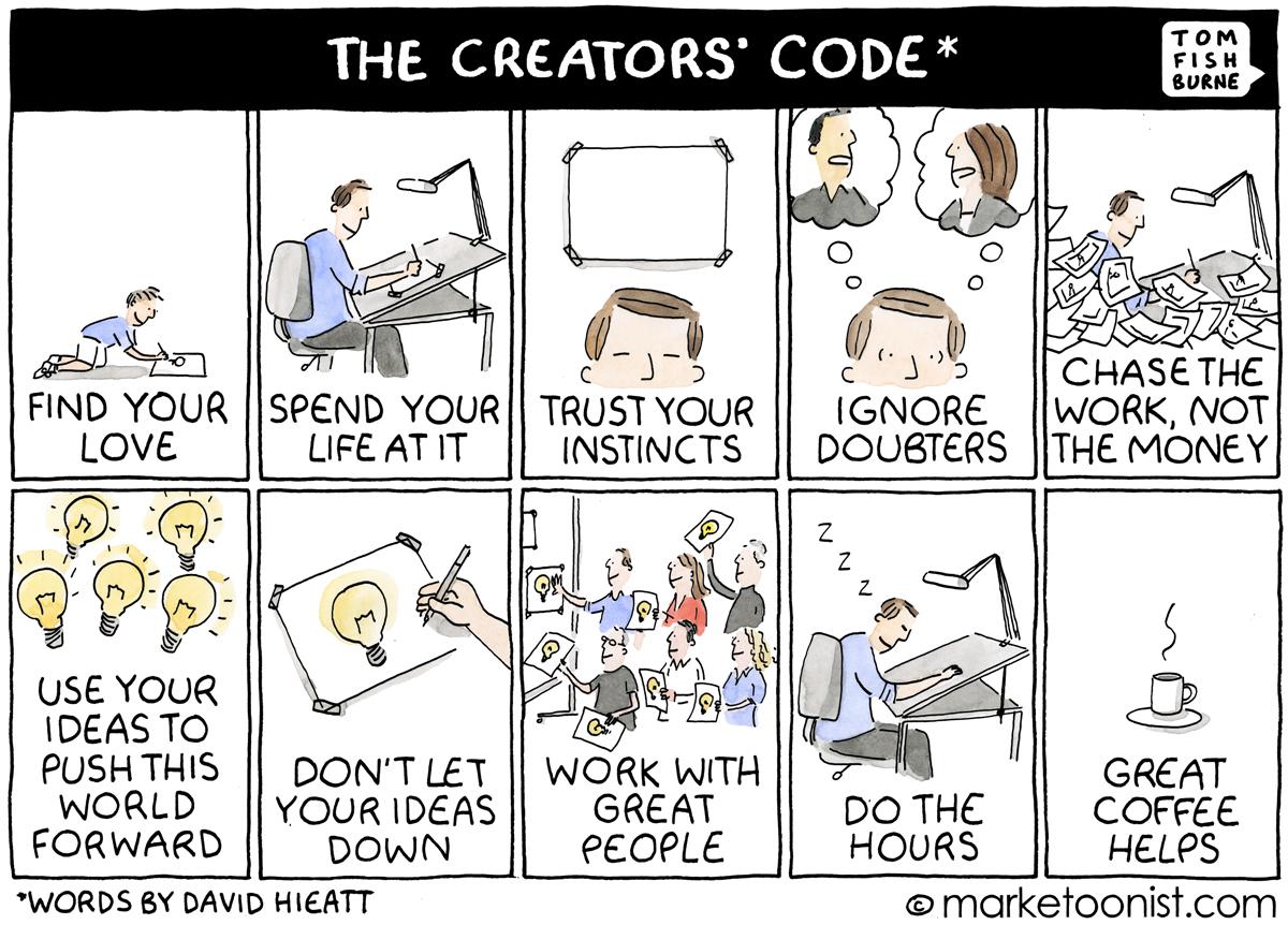 Resultado de imagen para the creators code tom fishburne