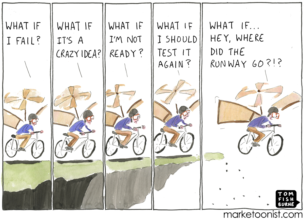 Making The Leap Cartoon