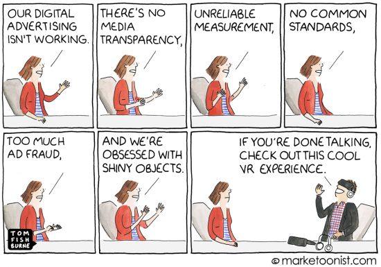 Digital Advertising And Media Transparency Cartoon