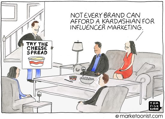 Influencer Marketing cartoon | Marketoonist | Tom Fishburne