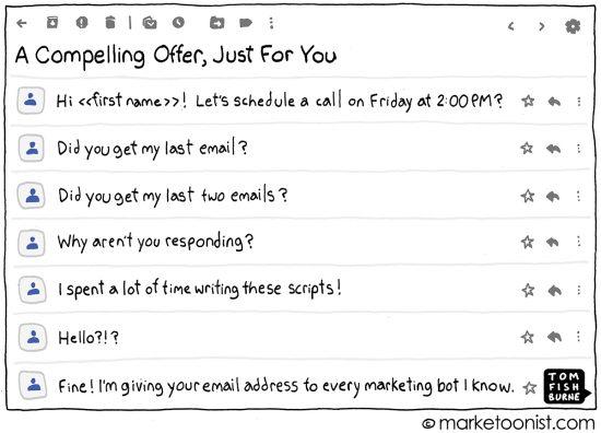 marketoonist.com - Marketing Automation cartoon | Marketoonist | Tom Fishburne