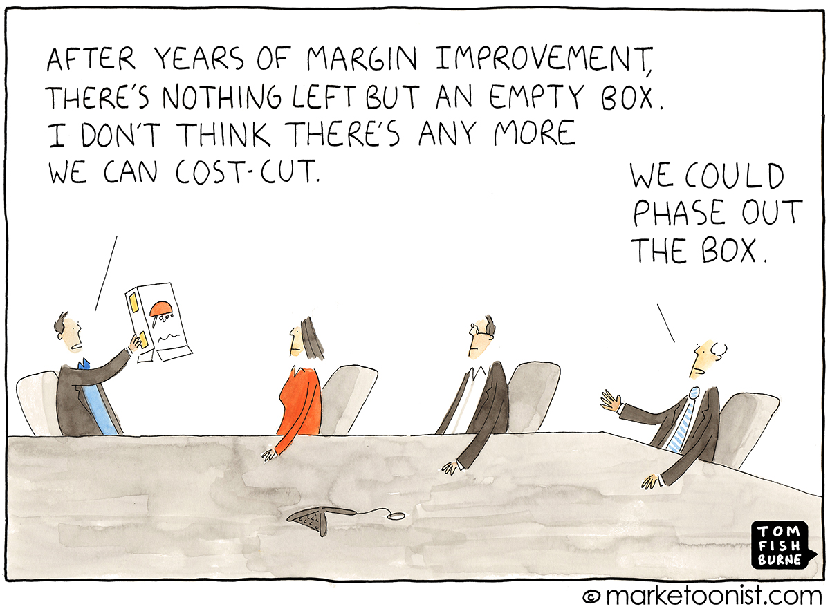 Cost-Cutting and Zero-Based Budgeting cartoon | Marketoonist | Tom ...