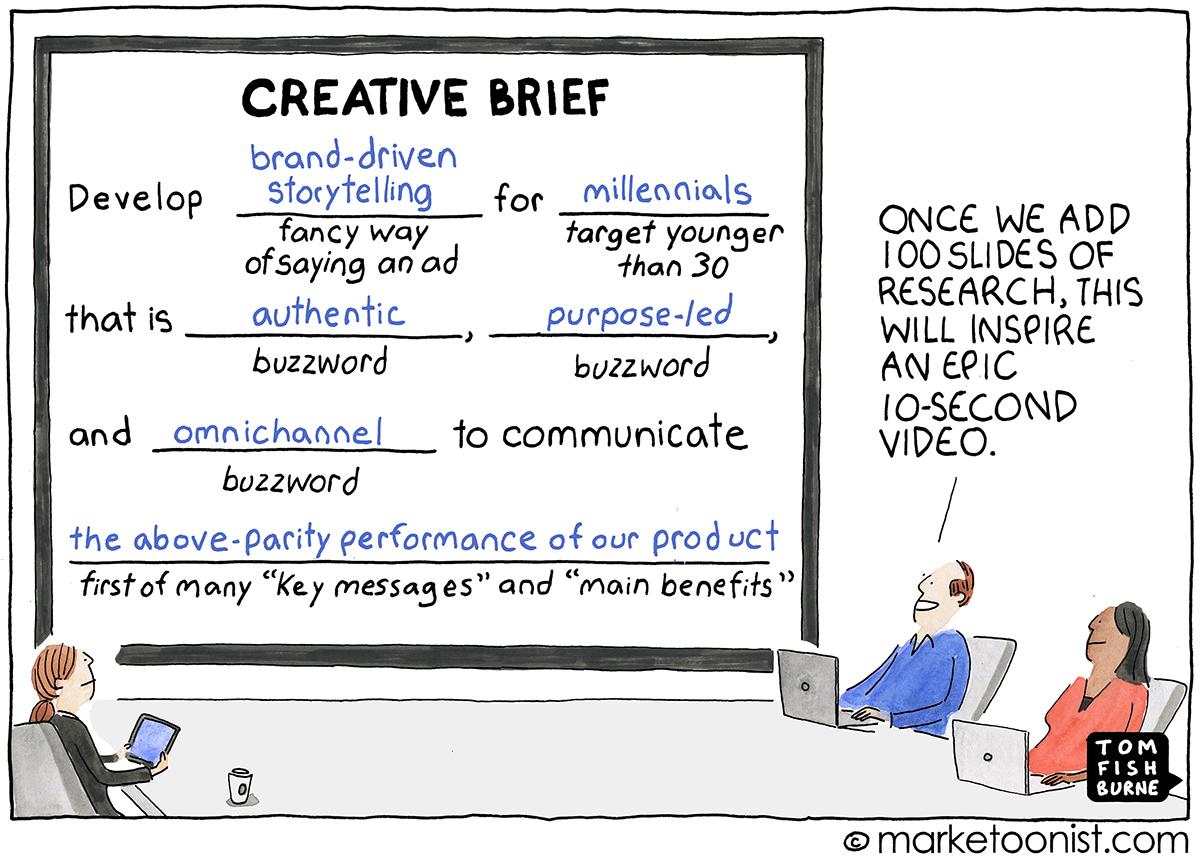 creative briefs and talking like a human