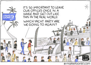 Cannes and the Marketing Echo Chamber cartoon