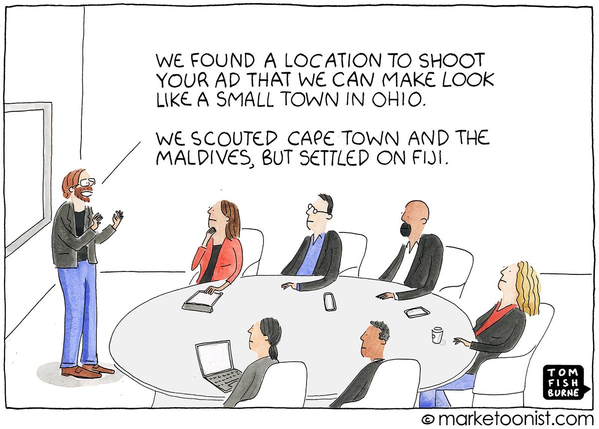 Advertising Production cartoon
