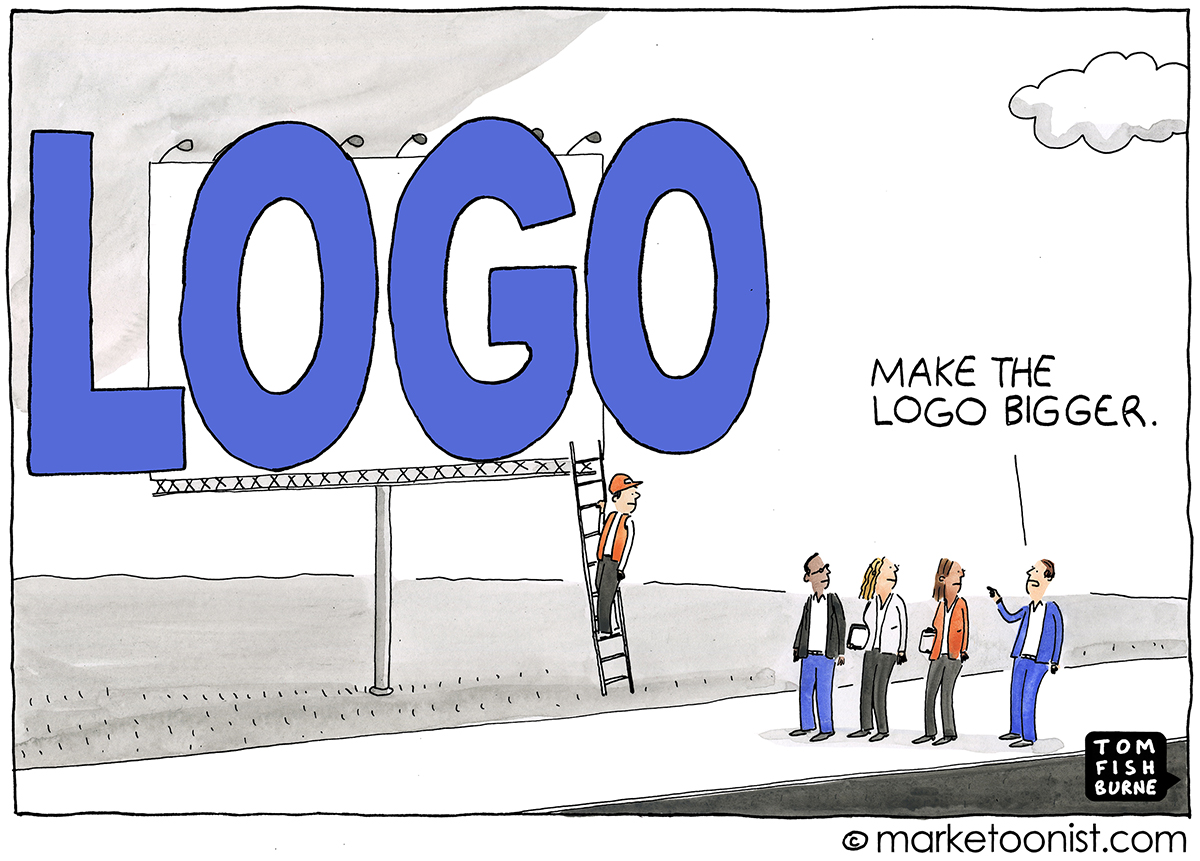 Make the Logo Bigger cartoon