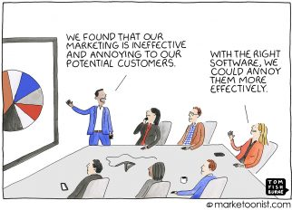 Marketing Automation cartoon