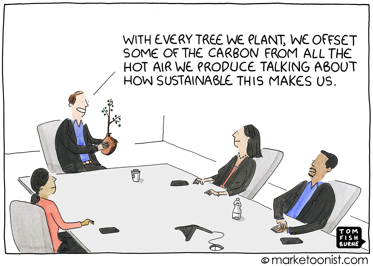 Sustainability cartoon