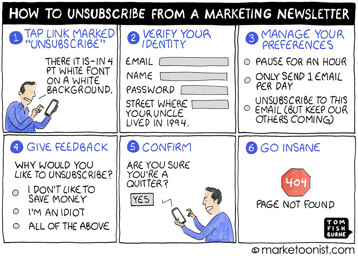 how to unsubscribe from a marketing newsletter
