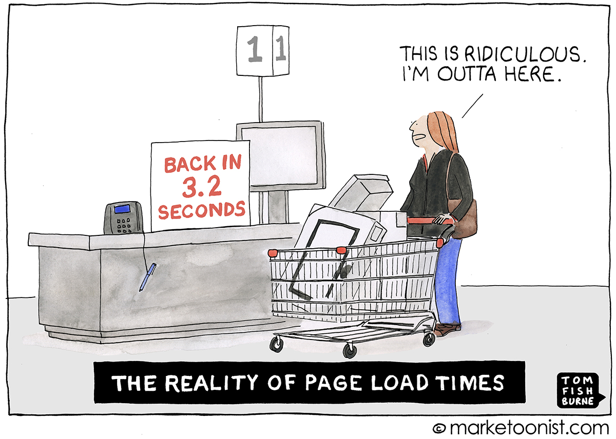 Page Load Times cartoon