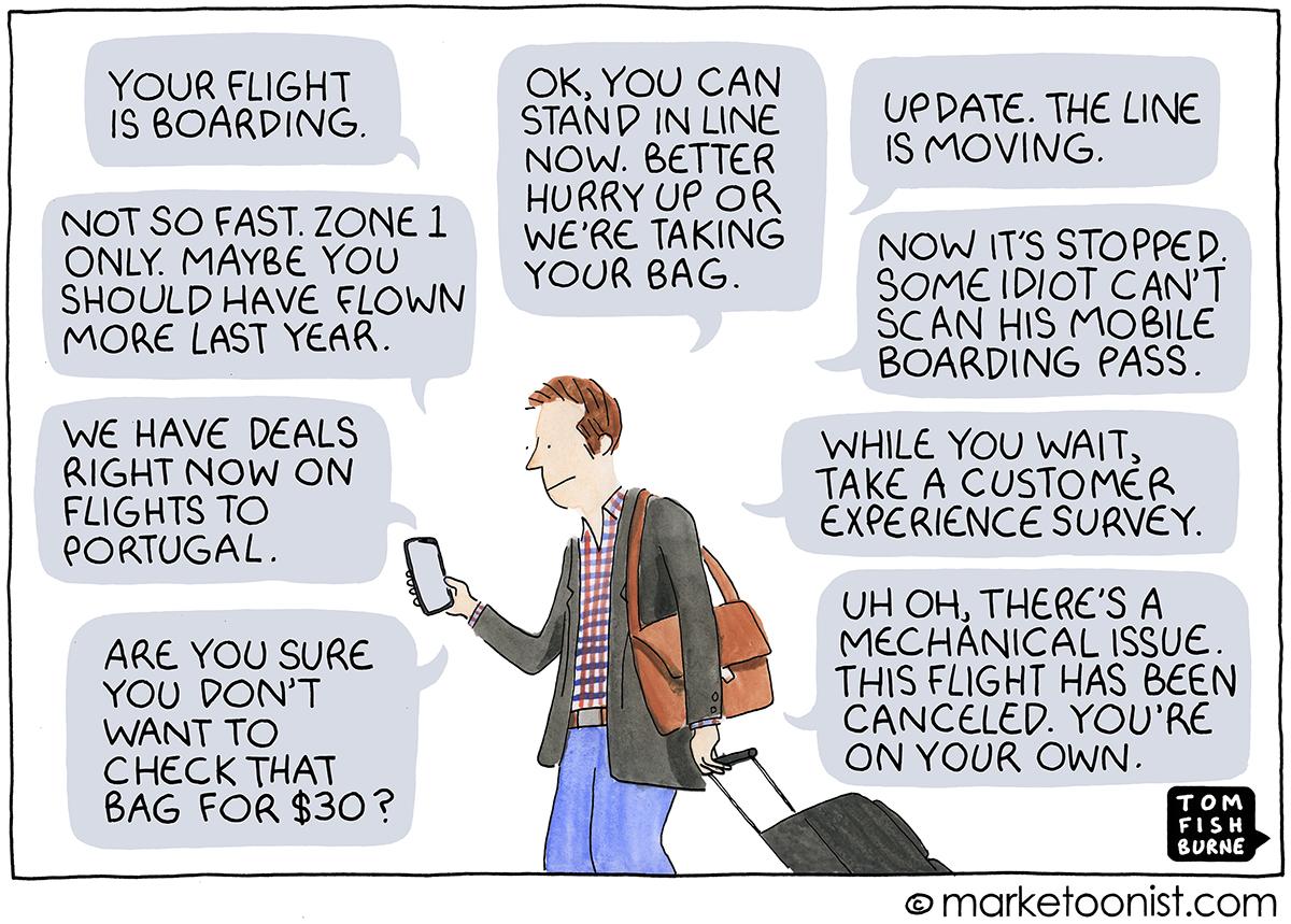 Push Notification cartoon