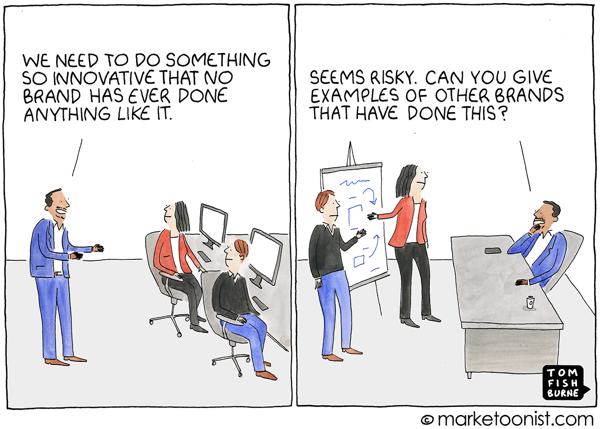 Innovation and Risk cartoon | Marketoonist | Tom Fishburne