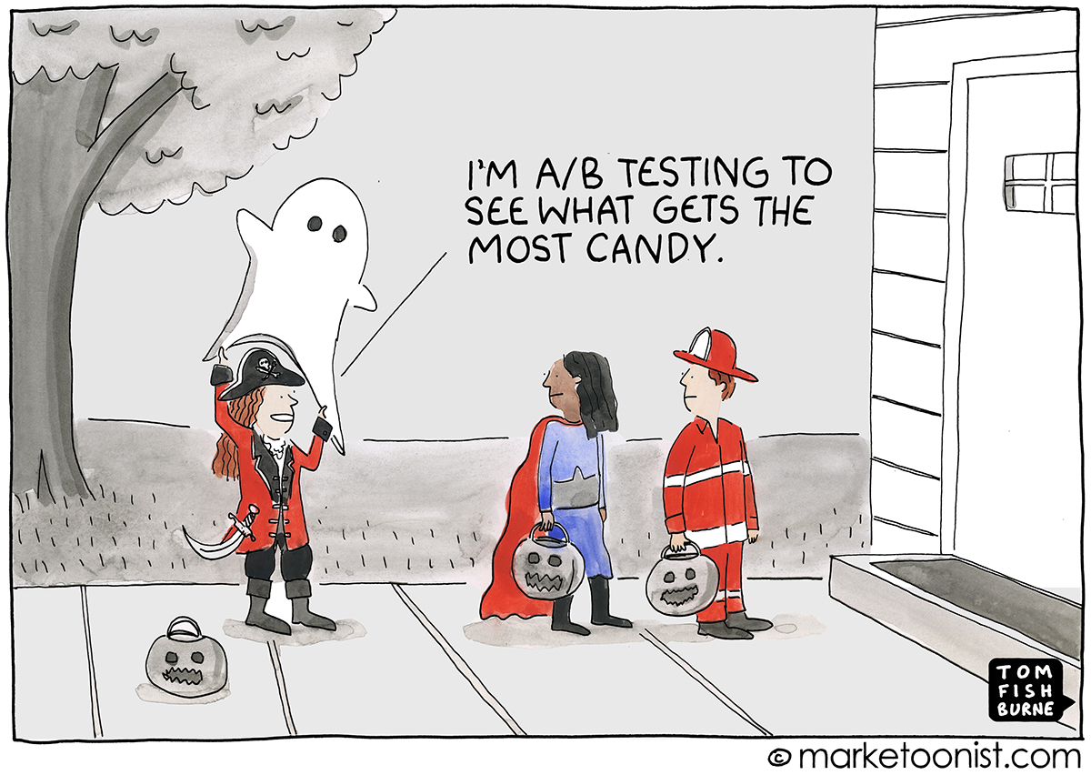 A/B Testing Cartoon