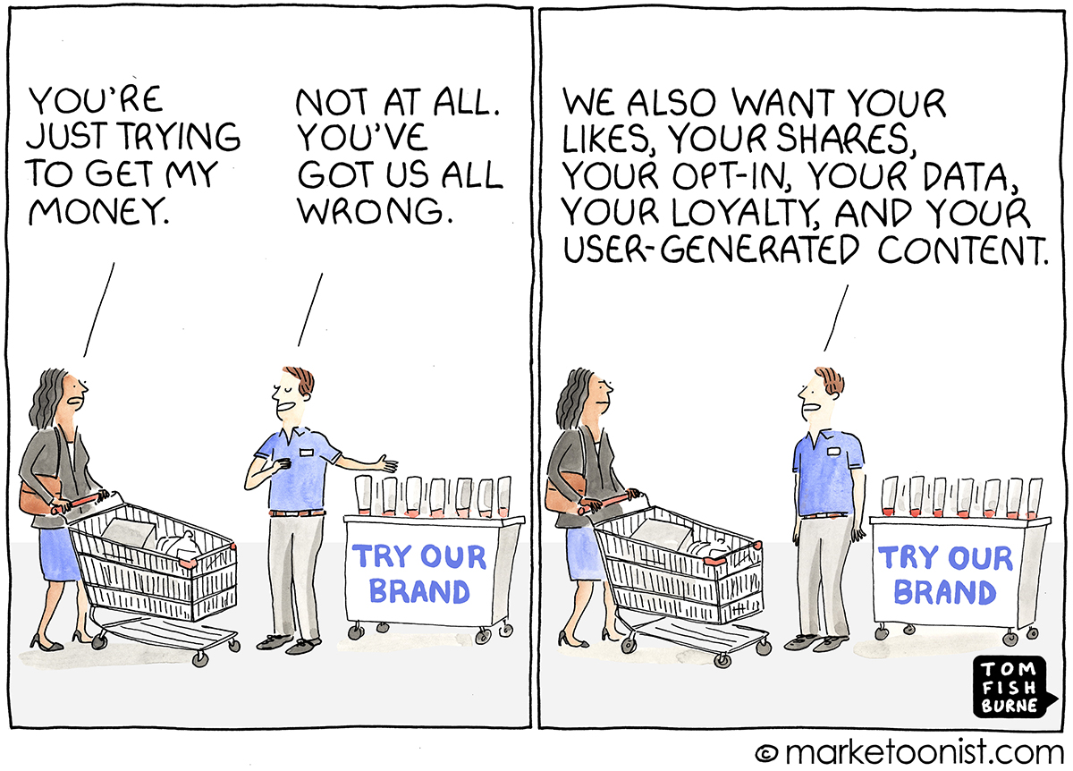Brand Trust cartoon