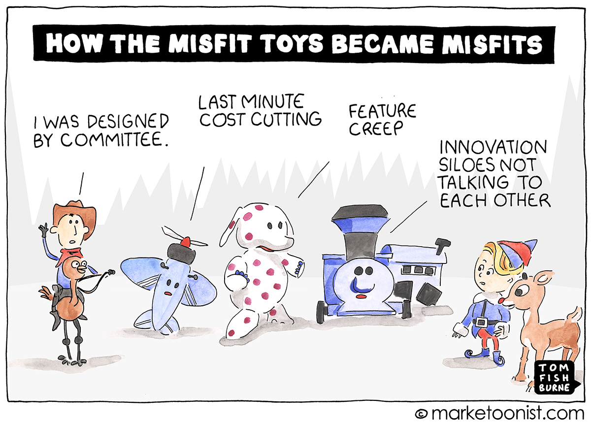 Misfit Toys cartoon
