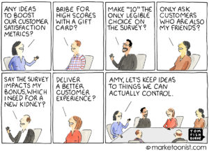 Customer Satisfaction Metrics cartoon