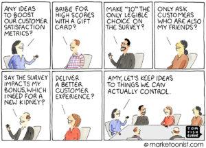 Customer Satisfaction Metrics cartoon