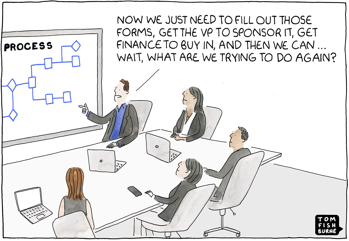 Image result for cartoon thought leadership