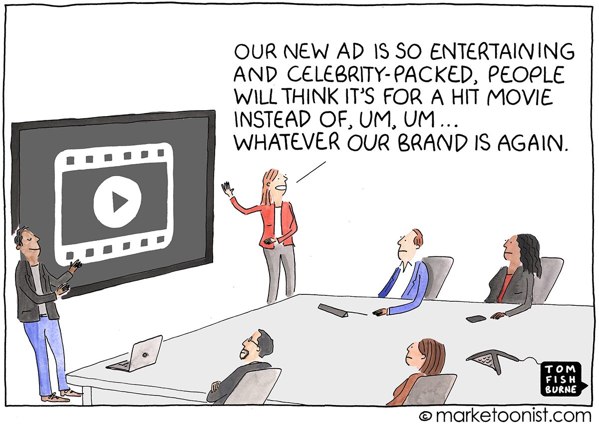 Advertising in the Super Bowl cartoon