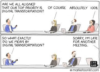 Digital Transformation cartoon
