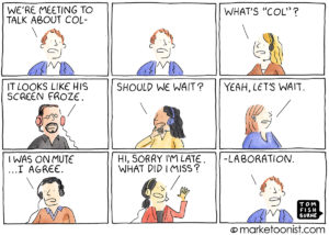 Virtual Collaboration cartoon