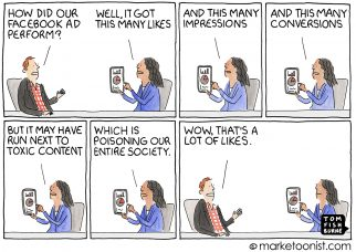 Facebook Ad Boycott cartoon