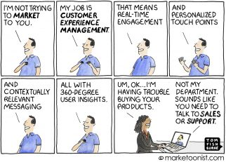 Customer Experience Management cartoon