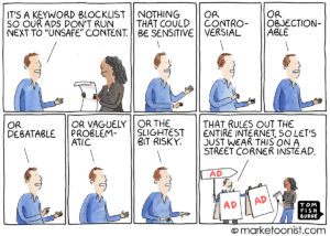 Brand Safety cartoon