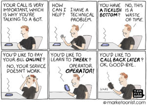Customer Service Bots cartoon